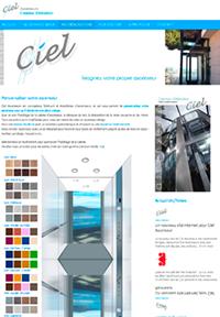 Site internet CMS ascenseurs