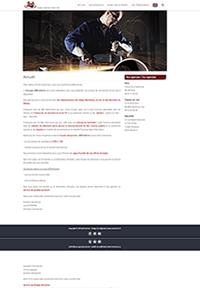 Site internet CMS travail intérimaire