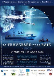 affiche et flyer traversée de la Baie