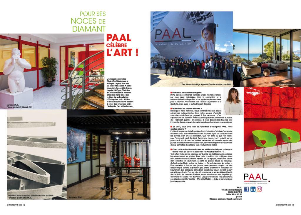 Magazine - entreprise Paal célèbre l'art